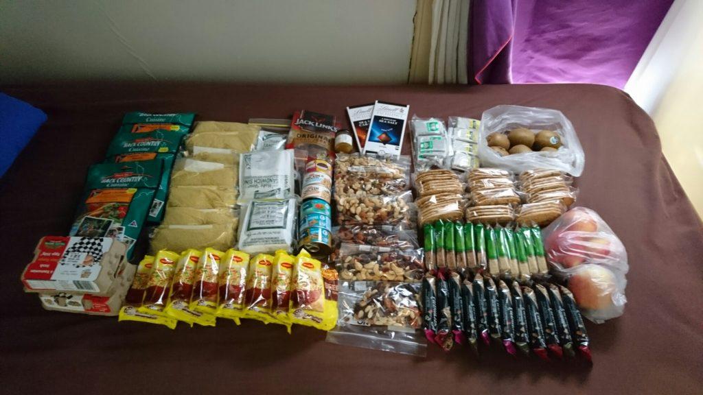Une semaine de nourriture pour l'Overland Track