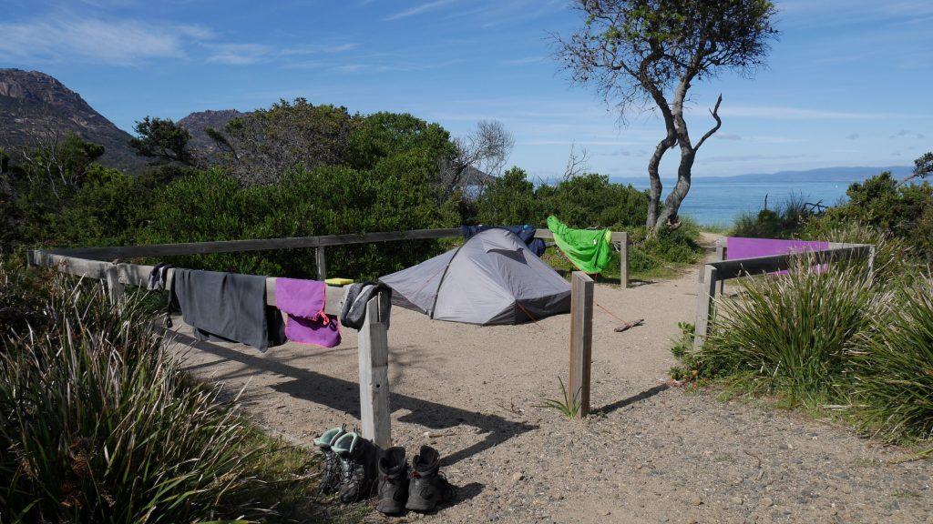 Notre campement en bord de mer