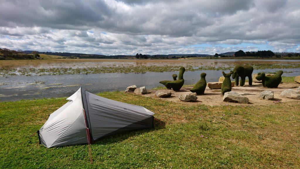 Camping en bord de lac