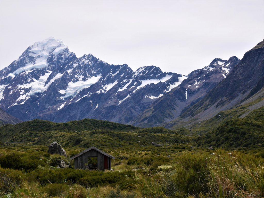 Un refuge sur la route du Mont Cook