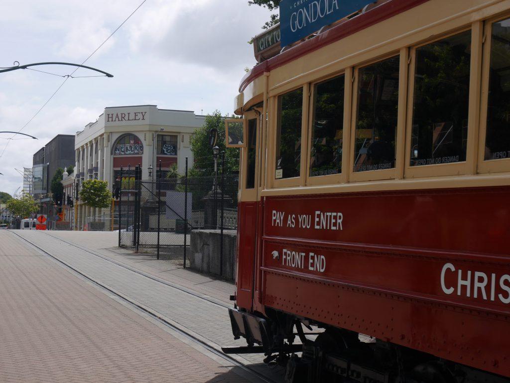 Le tram de Christchurch