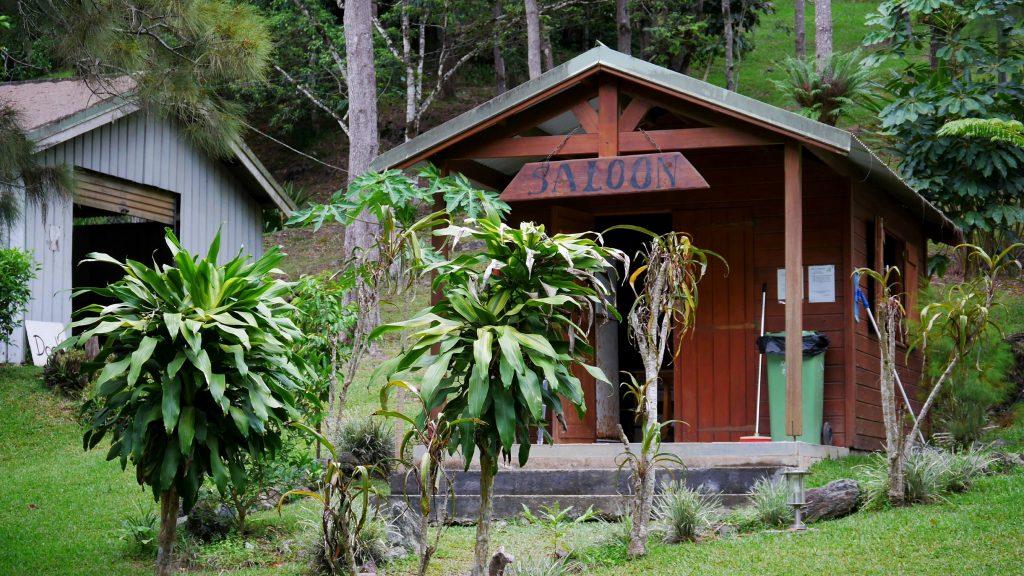 """Le """"saloon"""" du camping, notre abri / cuisine / salle à manger pour un soir"""