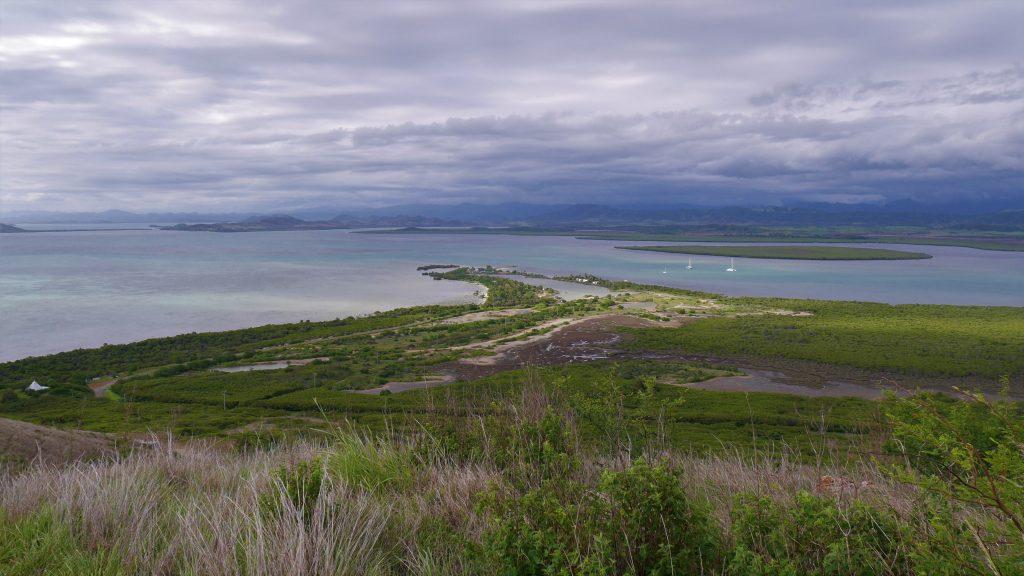 Vue du sommet de la péninsule de Ouago