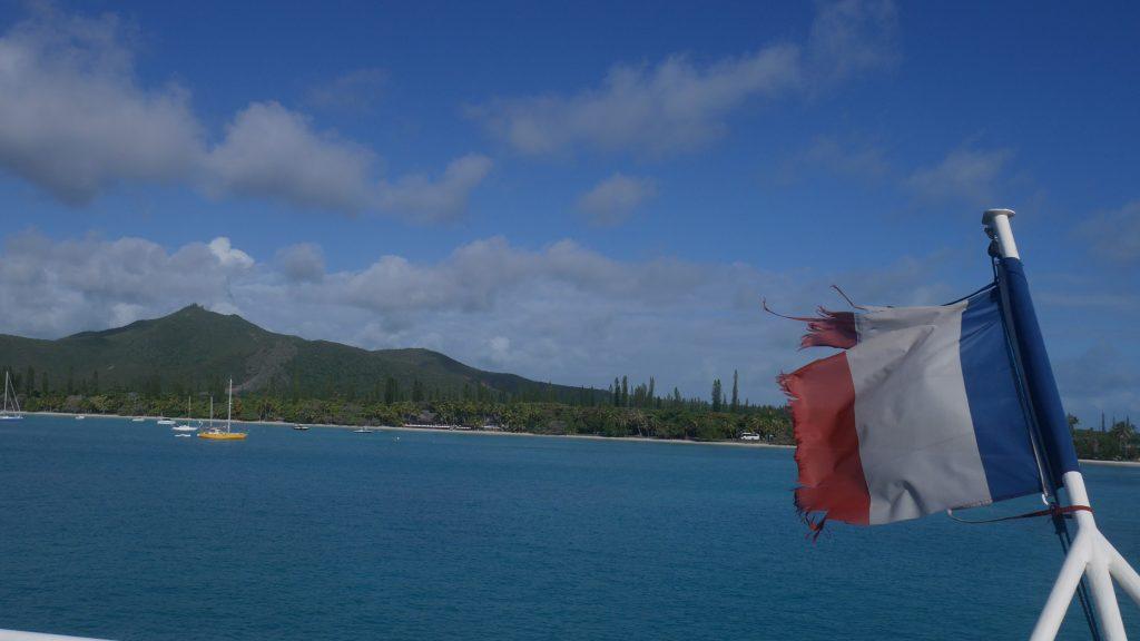 Départ de l'île des pins en bateau