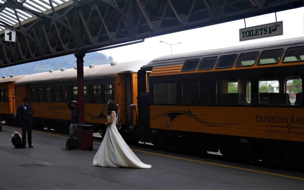 Dans al gare de Dunedin