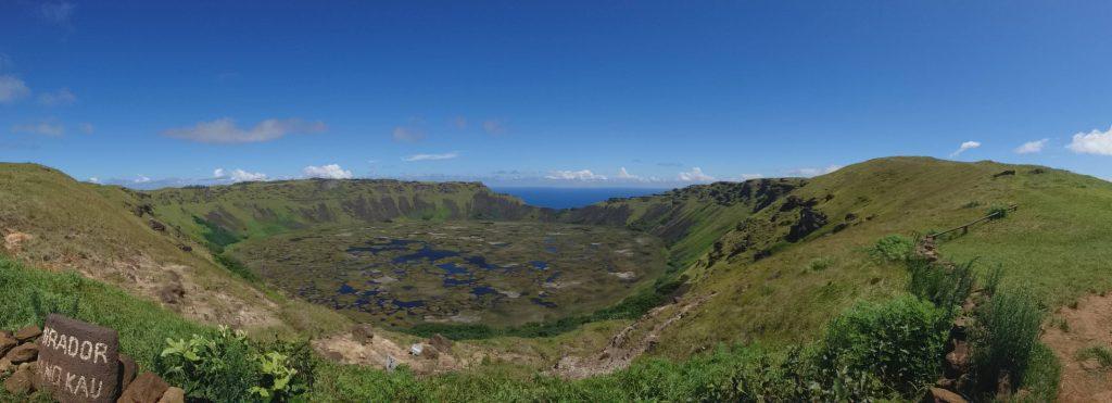 Panorama à Rano Kau