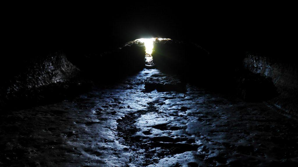 L'intérieur de la grotte
