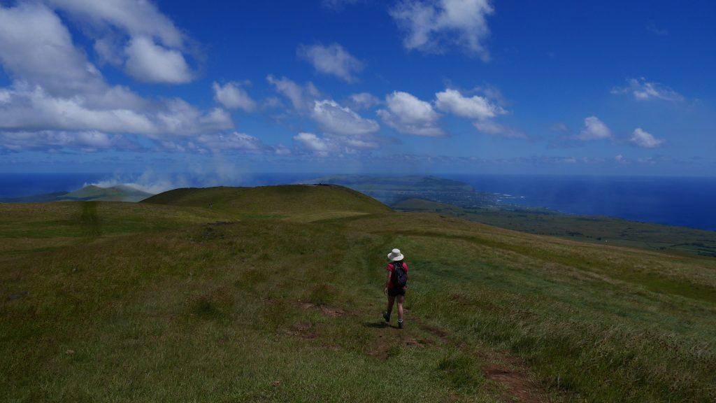 En descendant la montagne Maunga Terevaka