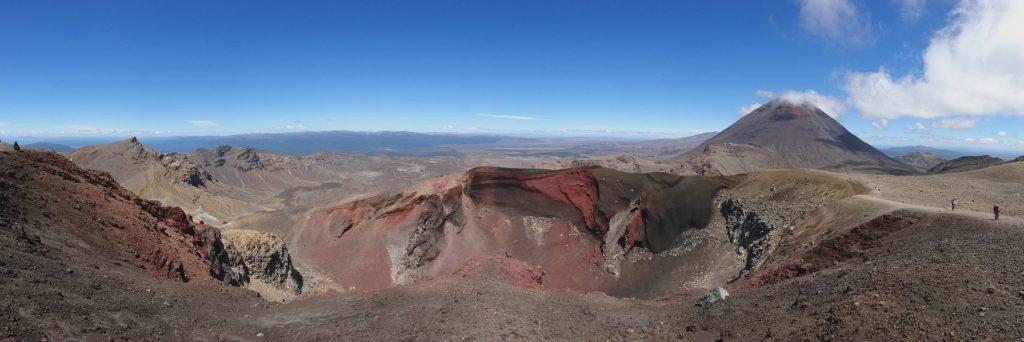 Panorama sur le Red Crater et les environs