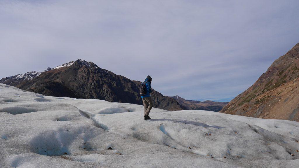 Thomas sur le glacier
