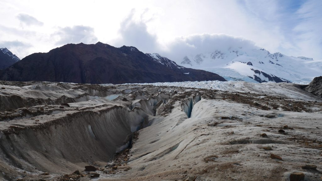 Les crevasses du glacier