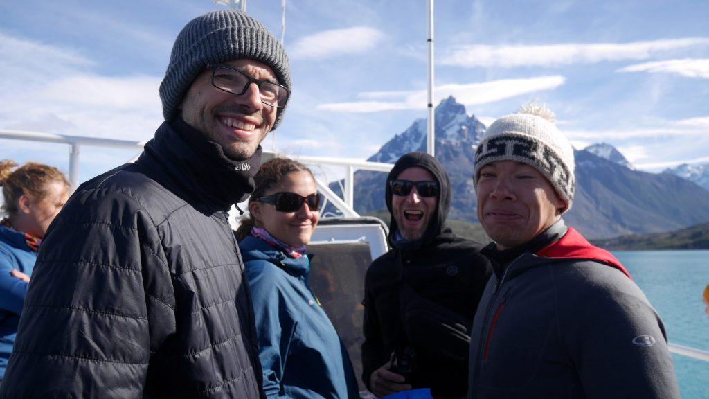 Thomas, Julie, Marco et Oli dans le bateau