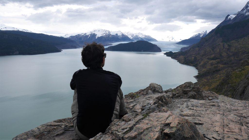 Thomas devant le glacier Grey