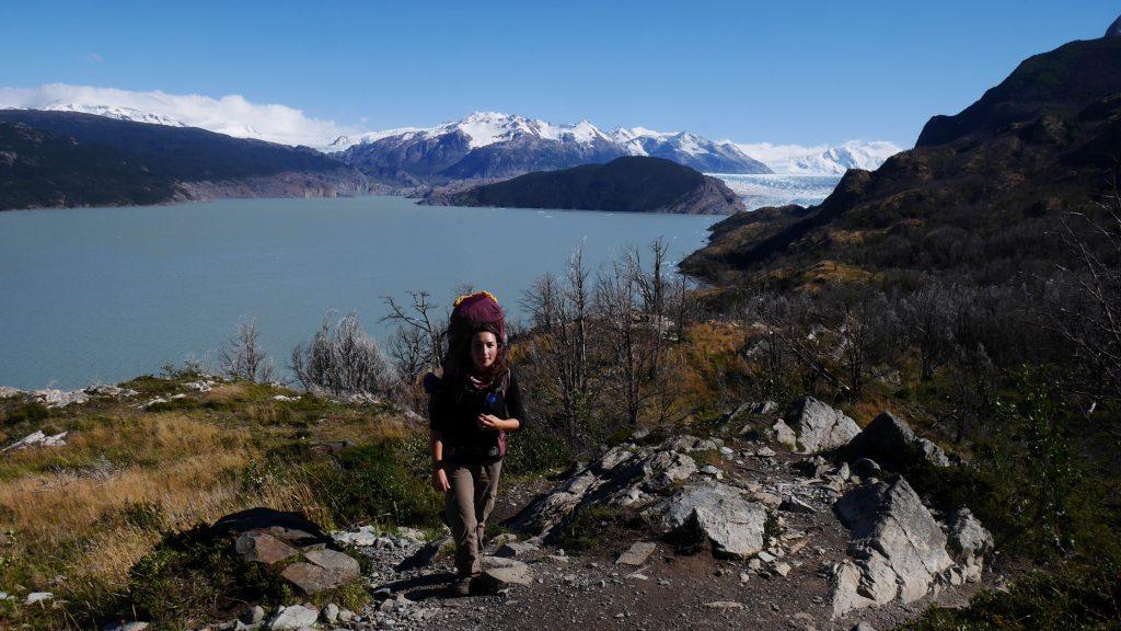 Irène devant le glacier