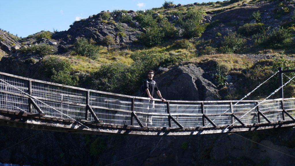 Thomas sur un des ponts