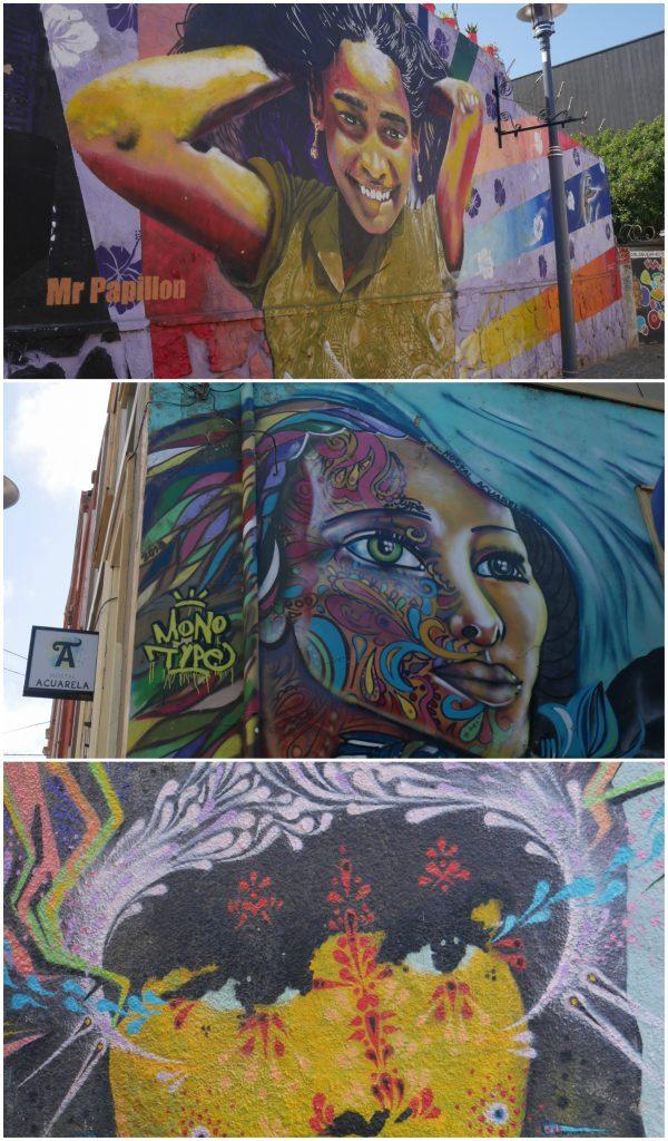 Visages sur les murs de la ville