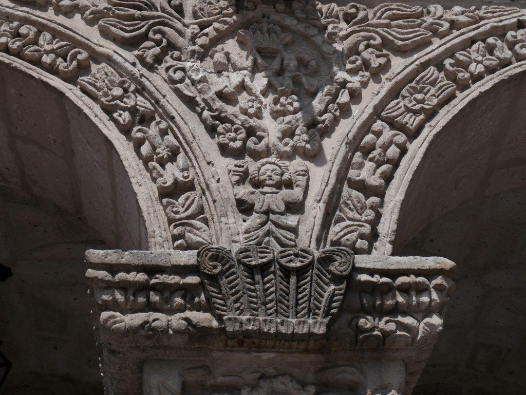 Détail des arcades du cloître