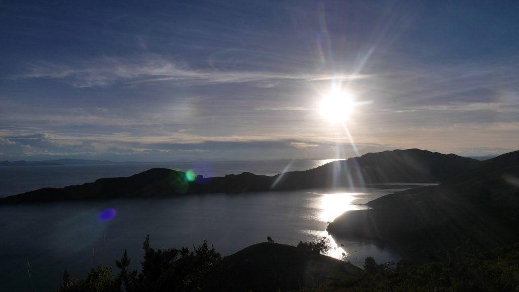 Coucher de soleil depuis la Isla del Sol