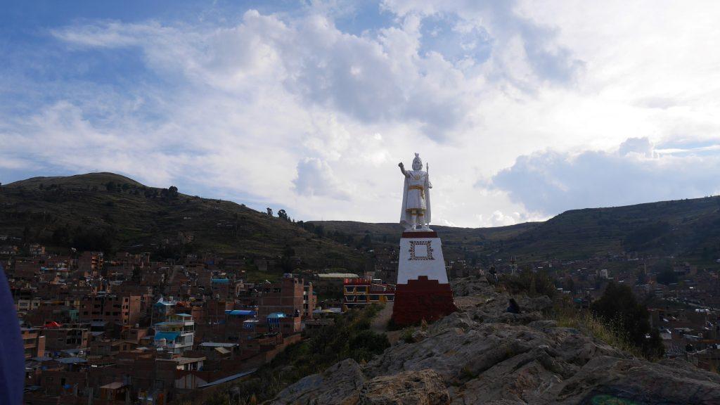 Une statue de Manco Capac, premier empereur inca