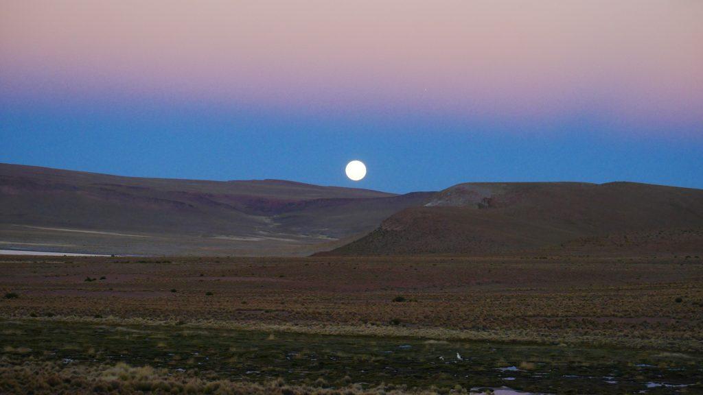 Majestueux lever de lune