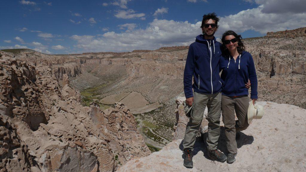 Devant le canyon