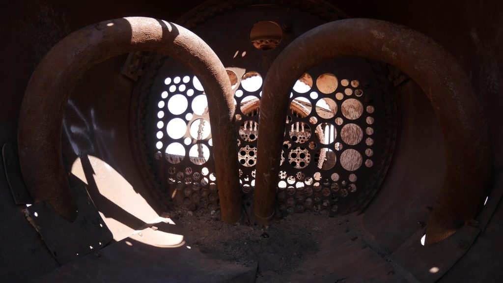 Intérieur d'un vieux train