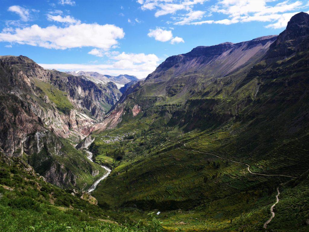 Vue sur le canyon
