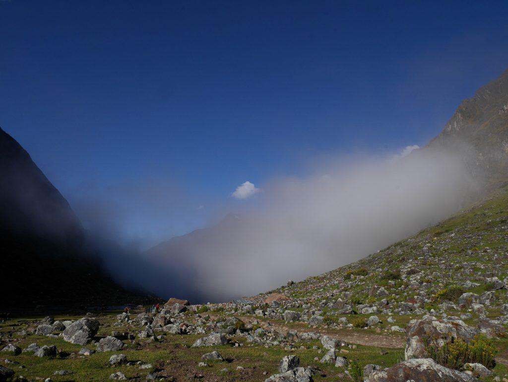 Nuage dans la vallée