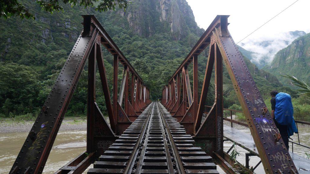 Le pont vers le Machu Picchu
